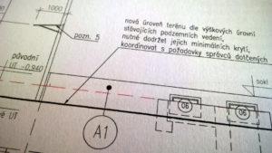 Detail soklu bytového domu - jde o součást projektové dokumentace revitalizace v úrovni pro stavební povolení.