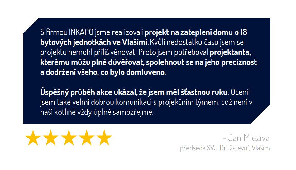 Zpracování kvalitního projektu i energetického hodnocení je pro dotace na zateplení bytových domů IROP klíčové.
