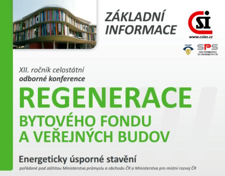 Konference Regenerace bytového fondu a veřejných budov 2016.