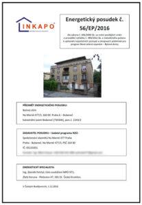 Energetický posudek pro bytový dům - program Nová zelená úsporám (celkem 132 stran).