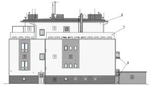 Pohled na  severozápadní fasádu domu