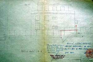 Pohled na původní výkresovou dokumentaci